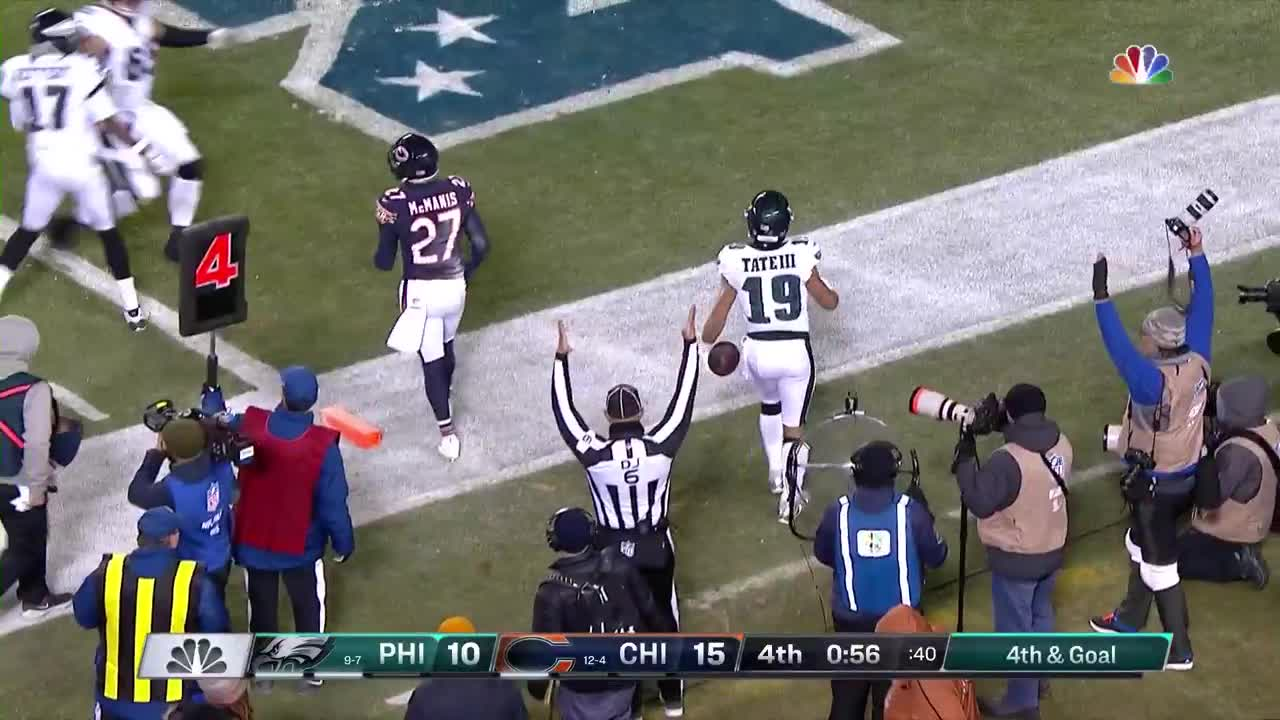 Highlight  Foles Fires Clutch Fourth-Down Touchdown To Tate a879bcd85