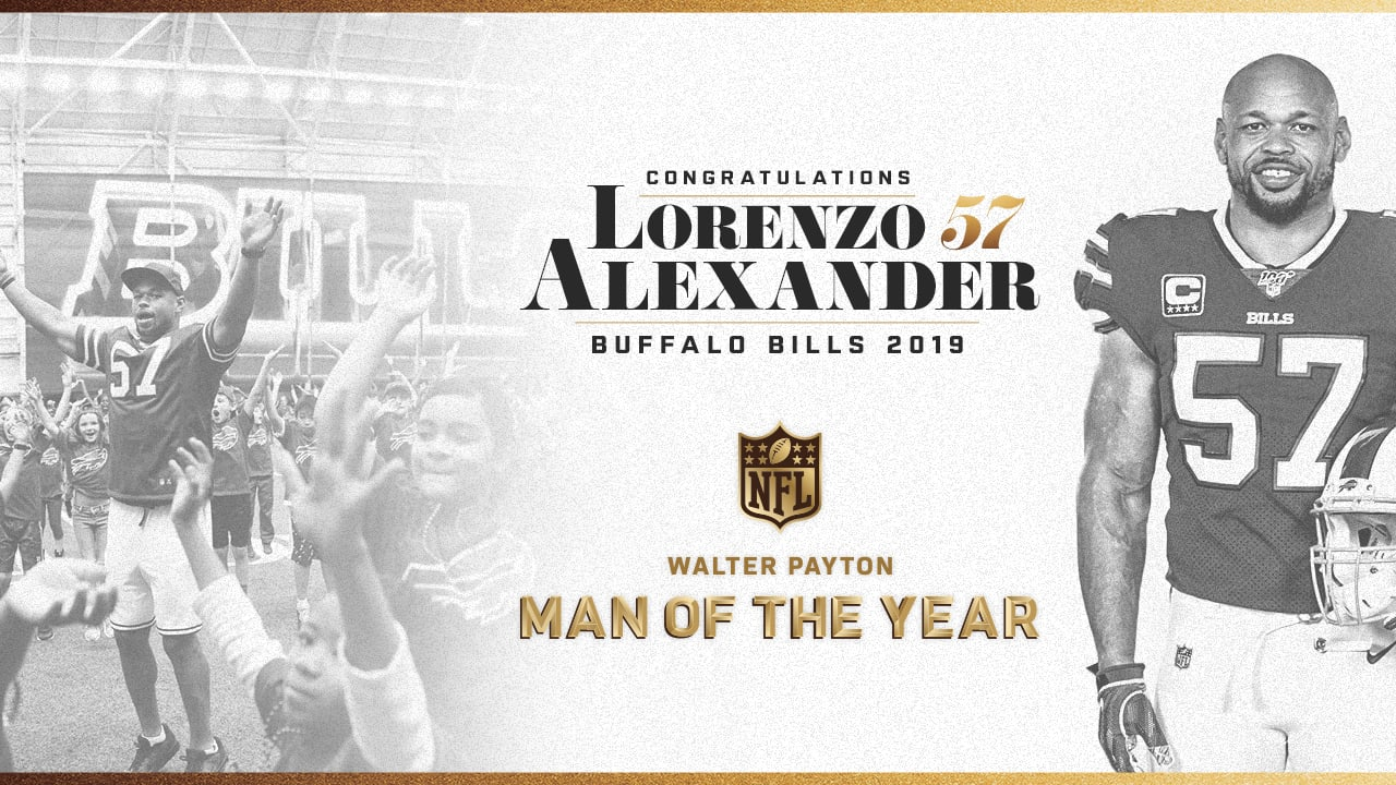Lorenzo Alexander named Bills' Walter Payton Man of the Year