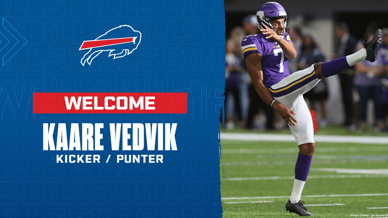 Bills sign punter/kicker Kaare Vedvik as reserve/future free agent