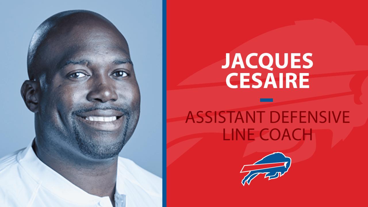 Bills hire Jacques Cesaire as assistant defensive line coach