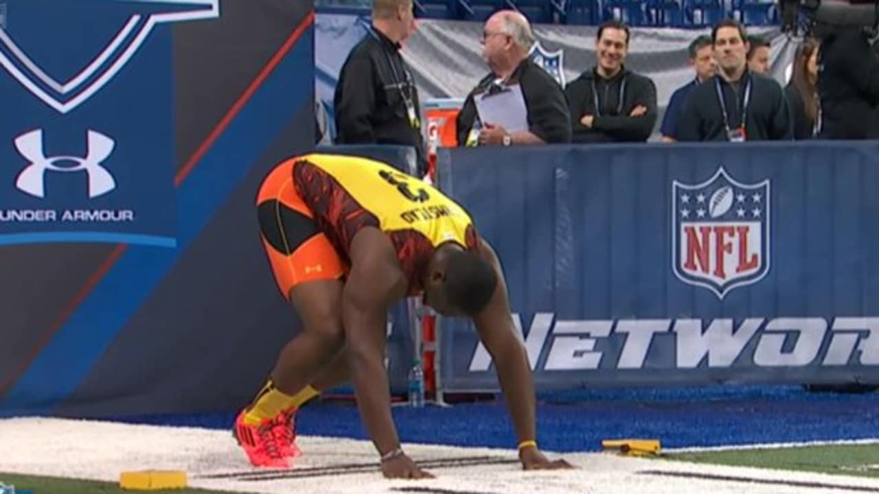 Offensive Lineman Crushes 40 Yard Dash