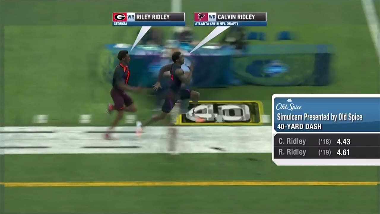 Simulcam Falcons Wr Calvin Ridley Flies By Little Brother Uga Wr Riley Ridley In 40 Yard Dash