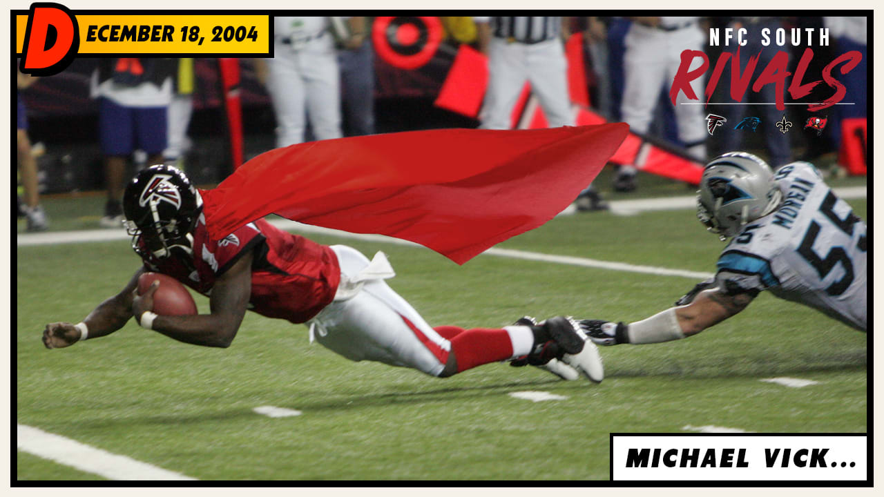 bafdcbd02 Michael Vick's great magic trick carried the Falcons past the Panthers and  into the playoffs