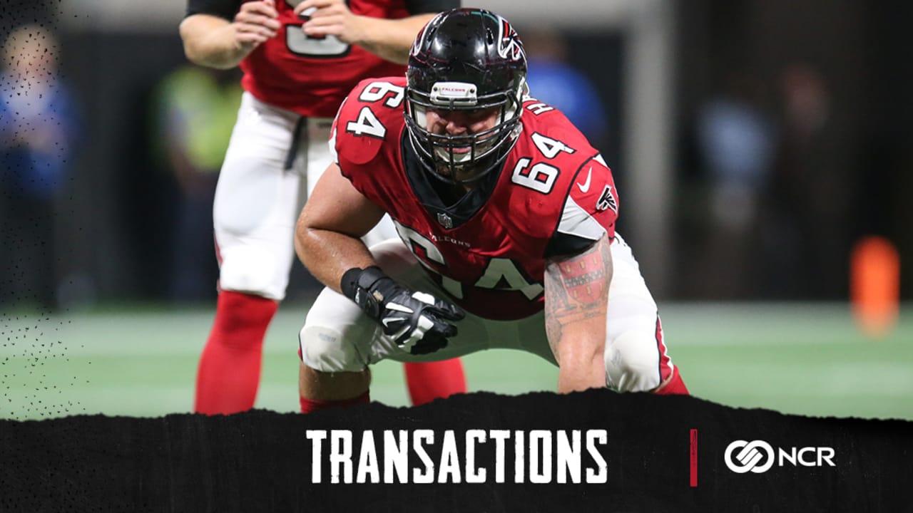 big sale 56bce dc4b0 Falcons make three offensive line moves with Brandon Fusco ...