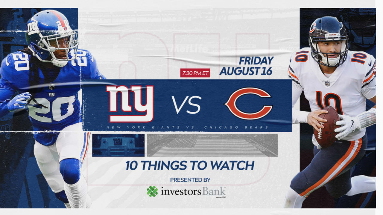 abf0b561 Giants vs. Bears: 10 Things to Watch