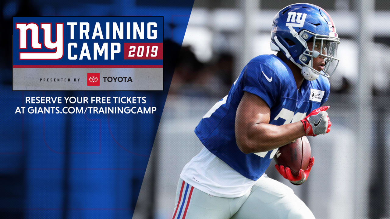 super popular 223eb 7718d New York Giants 2019 training camp ticket information