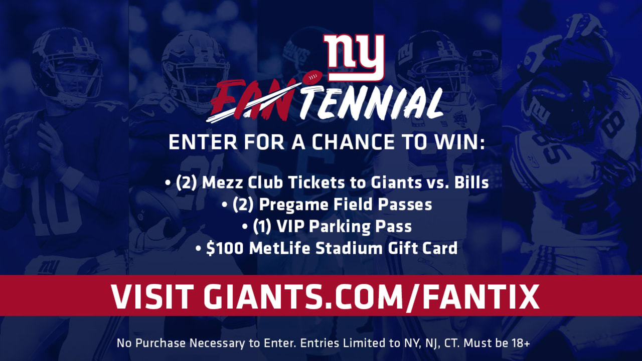 Enter for a chance to win Giants Fantennial Sweepstakes