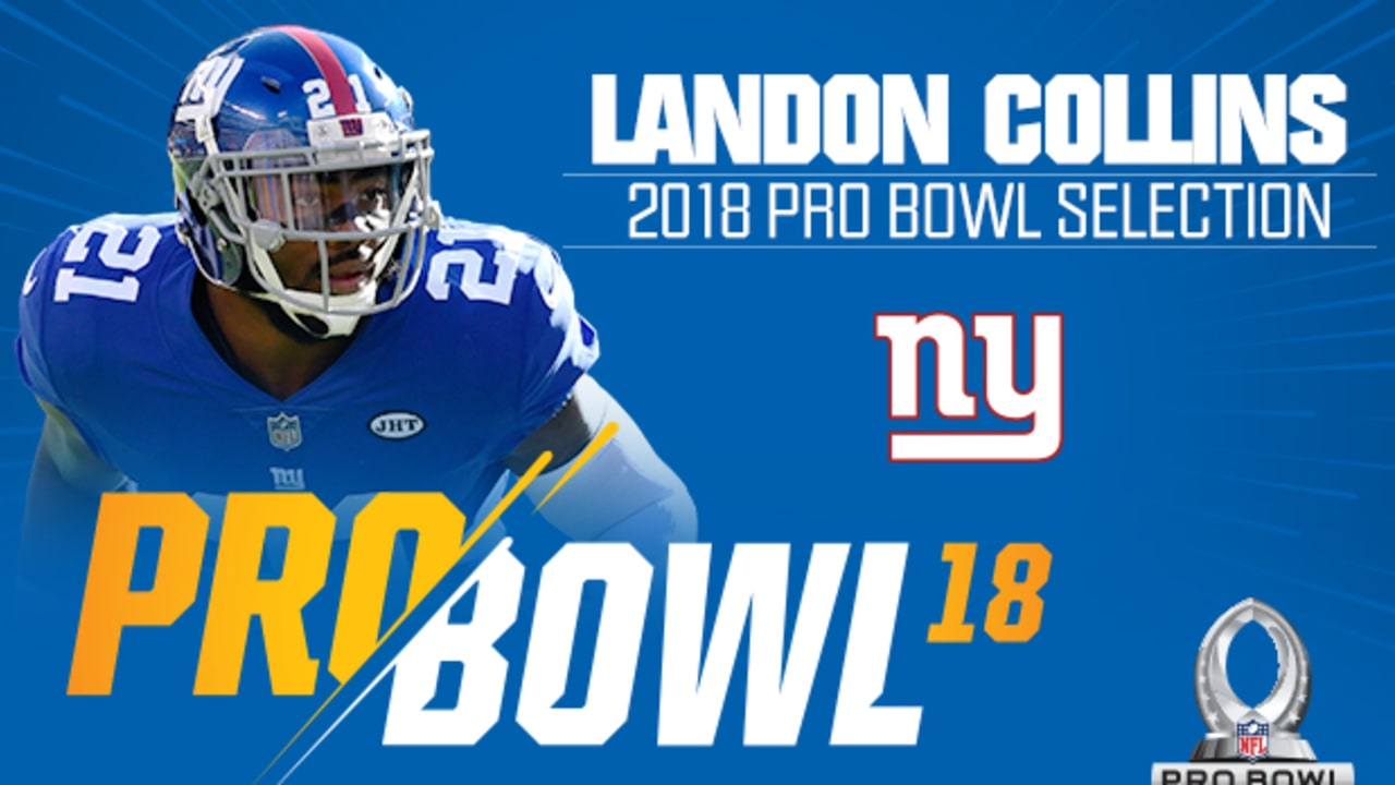 detailed look 18312 ae1eb Landon Collins named 2018 Pro Bowl starting safety