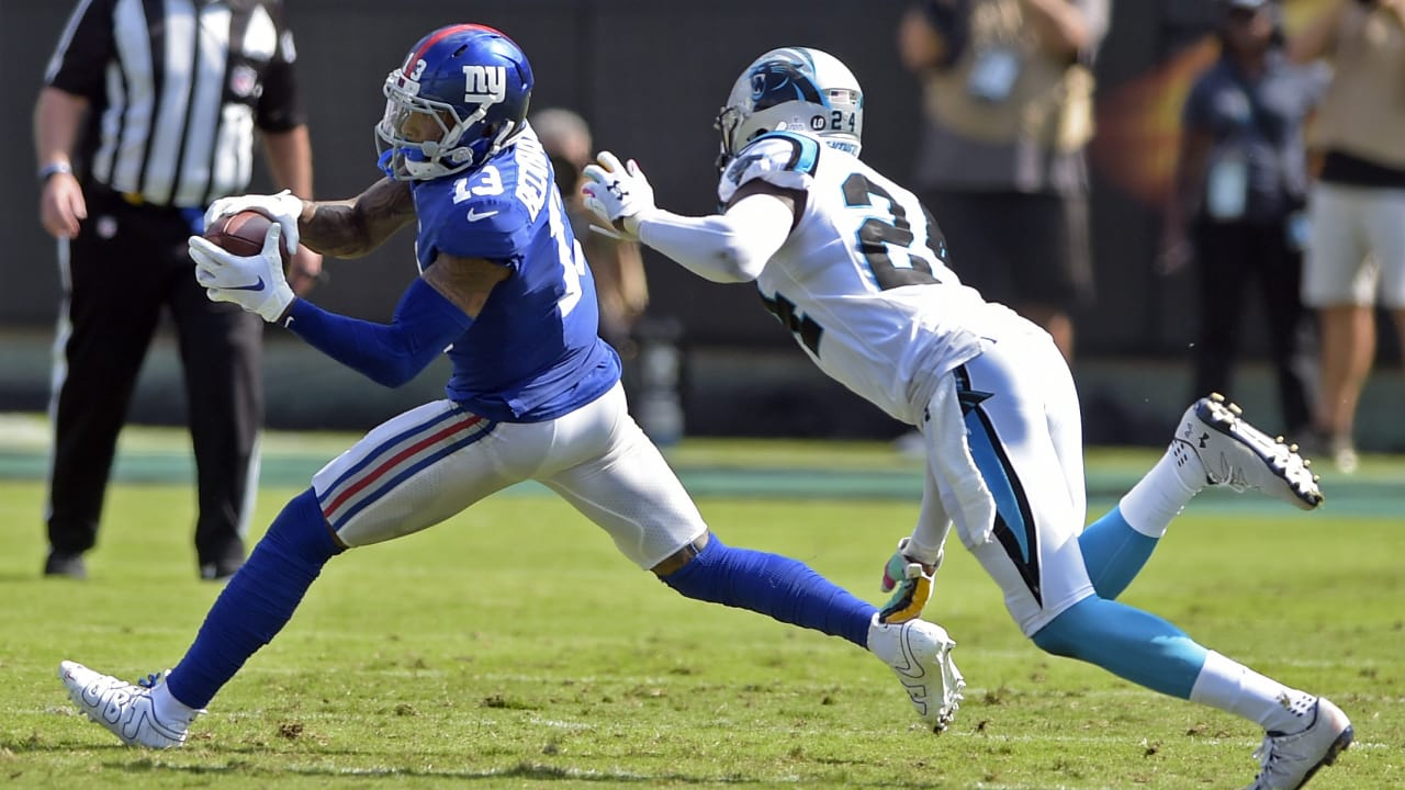 af8a1926990d Odell Beckham Jr. burns Panthers  zone coverage for 19-yard catch and run