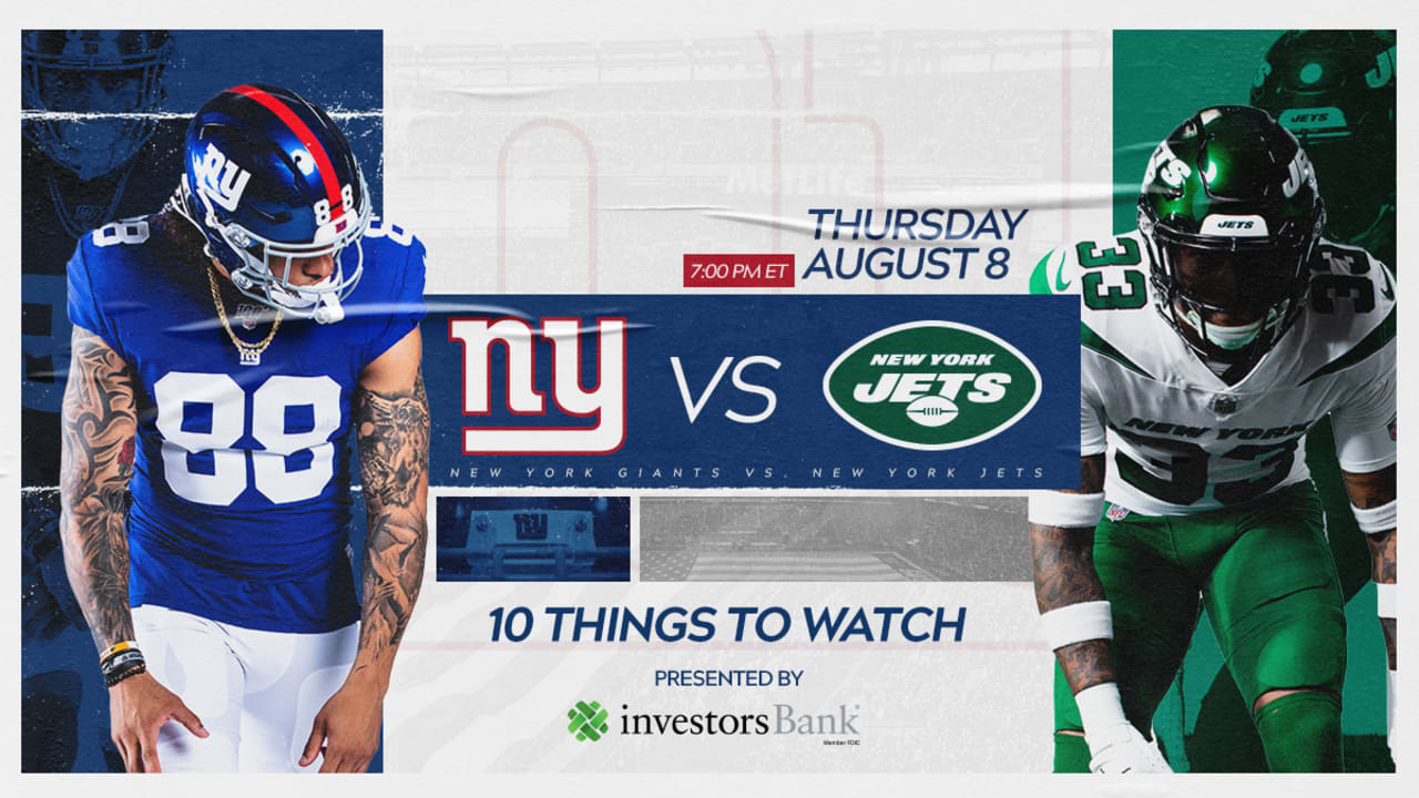 Giants vs  Jets: 10 things to watch