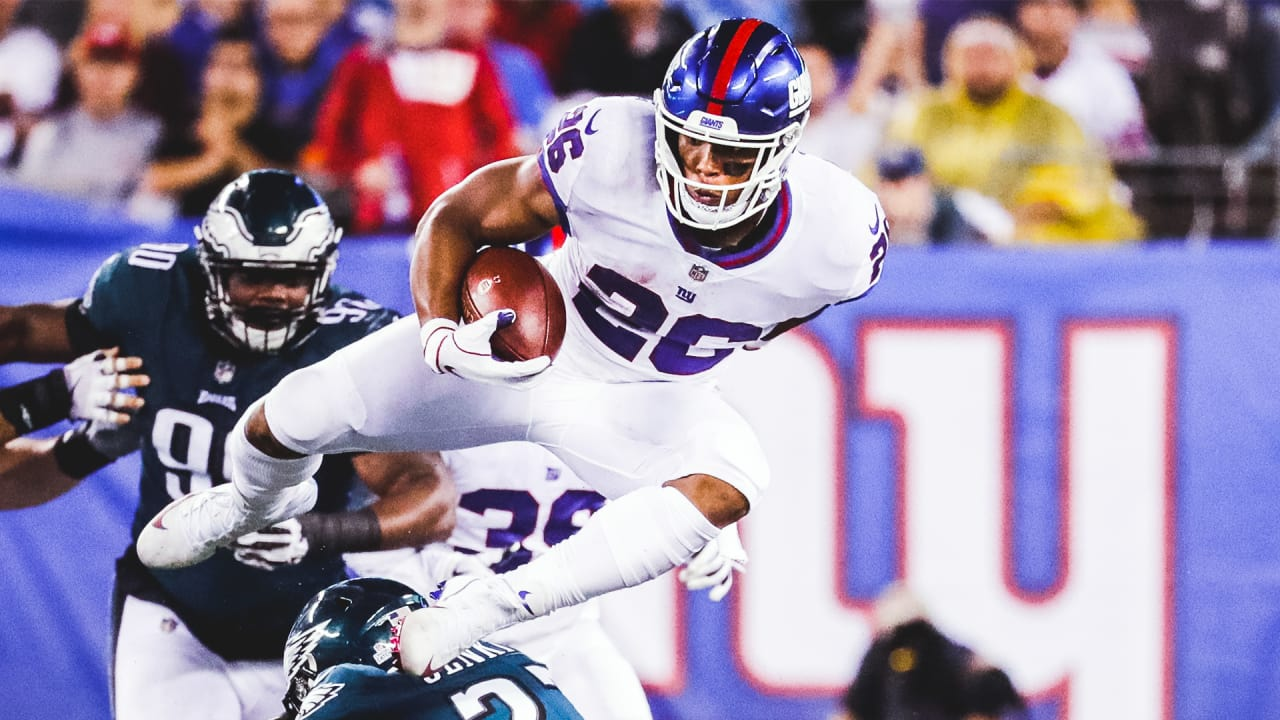 fb37f21cca7 Saquon's top plays from 229-yard game against the Eagles