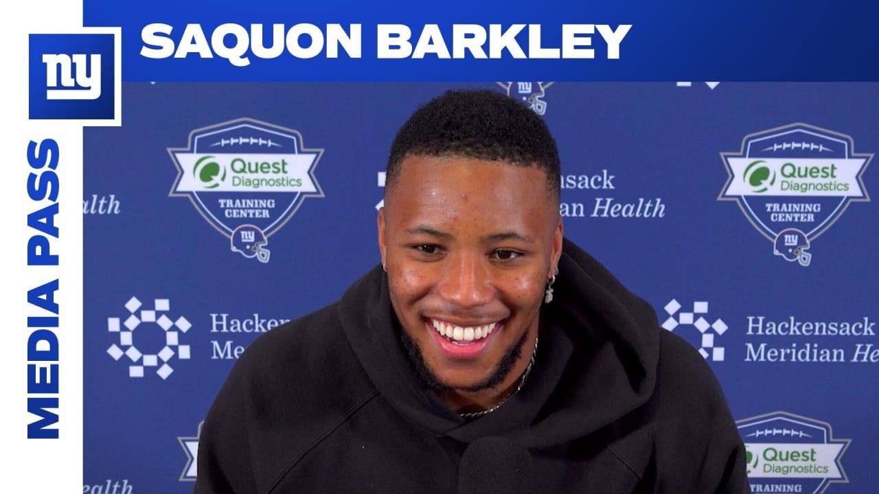 RB Saquon Barkley updates status: 'I'm doing well'