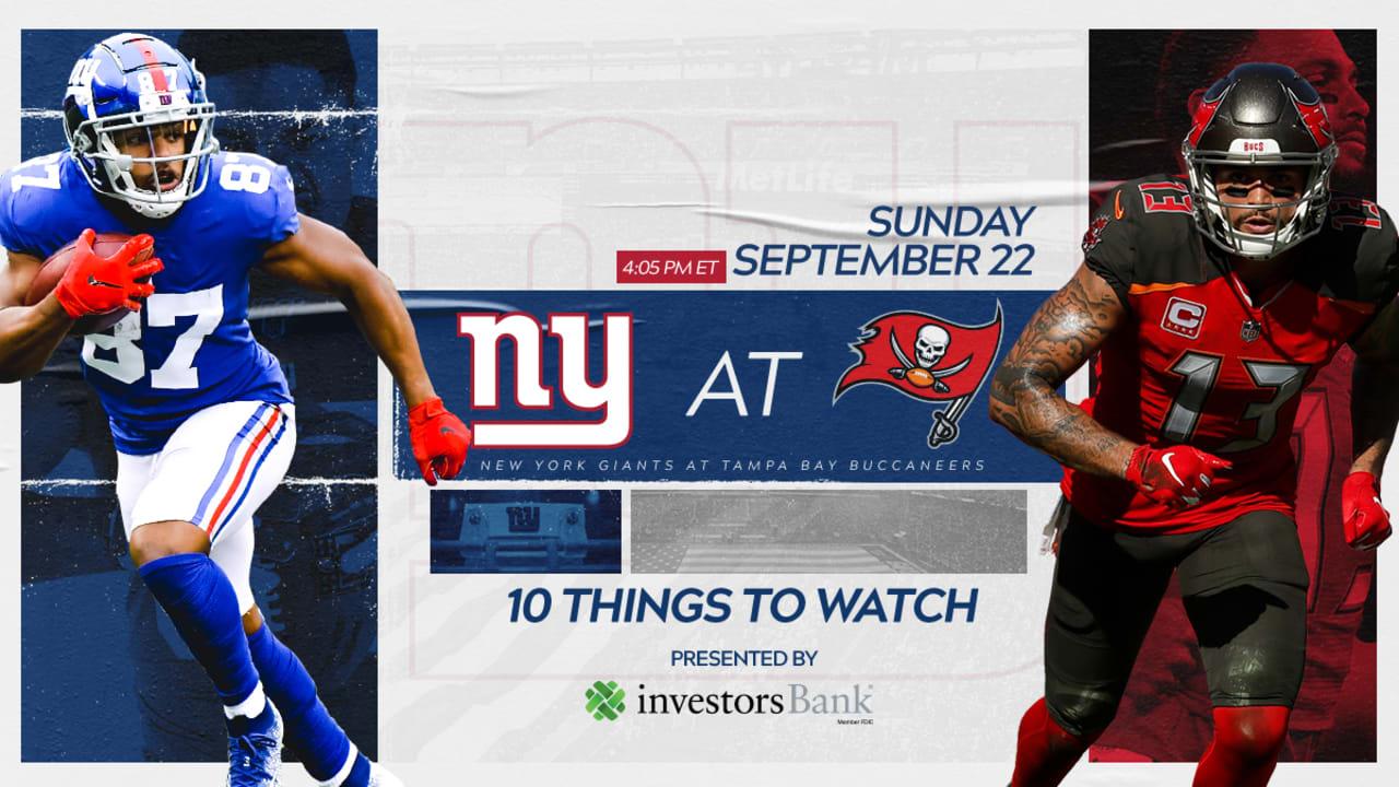 premium selection fcf79 01ba8 Giants vs. Buccaneers: 10 Things to Watch