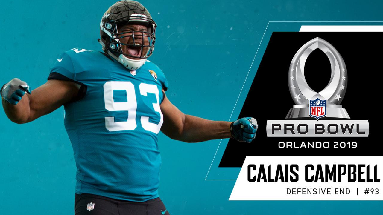 timeless design c8376 956e4 DL Calais Campbell Named to Fourth Career Pro Bowl