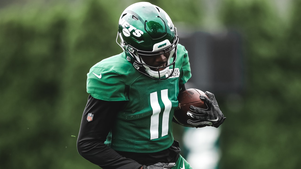 Denzel Mims Enjoys His First Jets Training Camp Practice