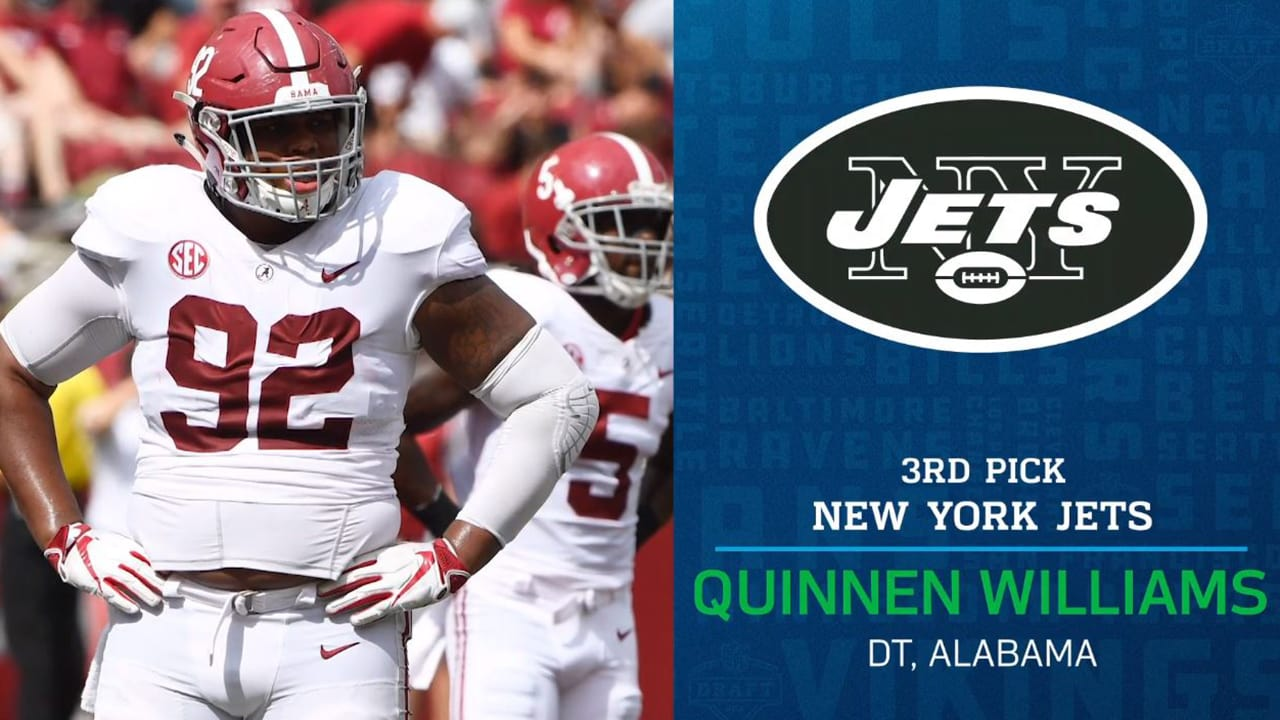 9737a0a77 NFL Network Mock Draft 1.0  Jets Select DT Quinnen Williams