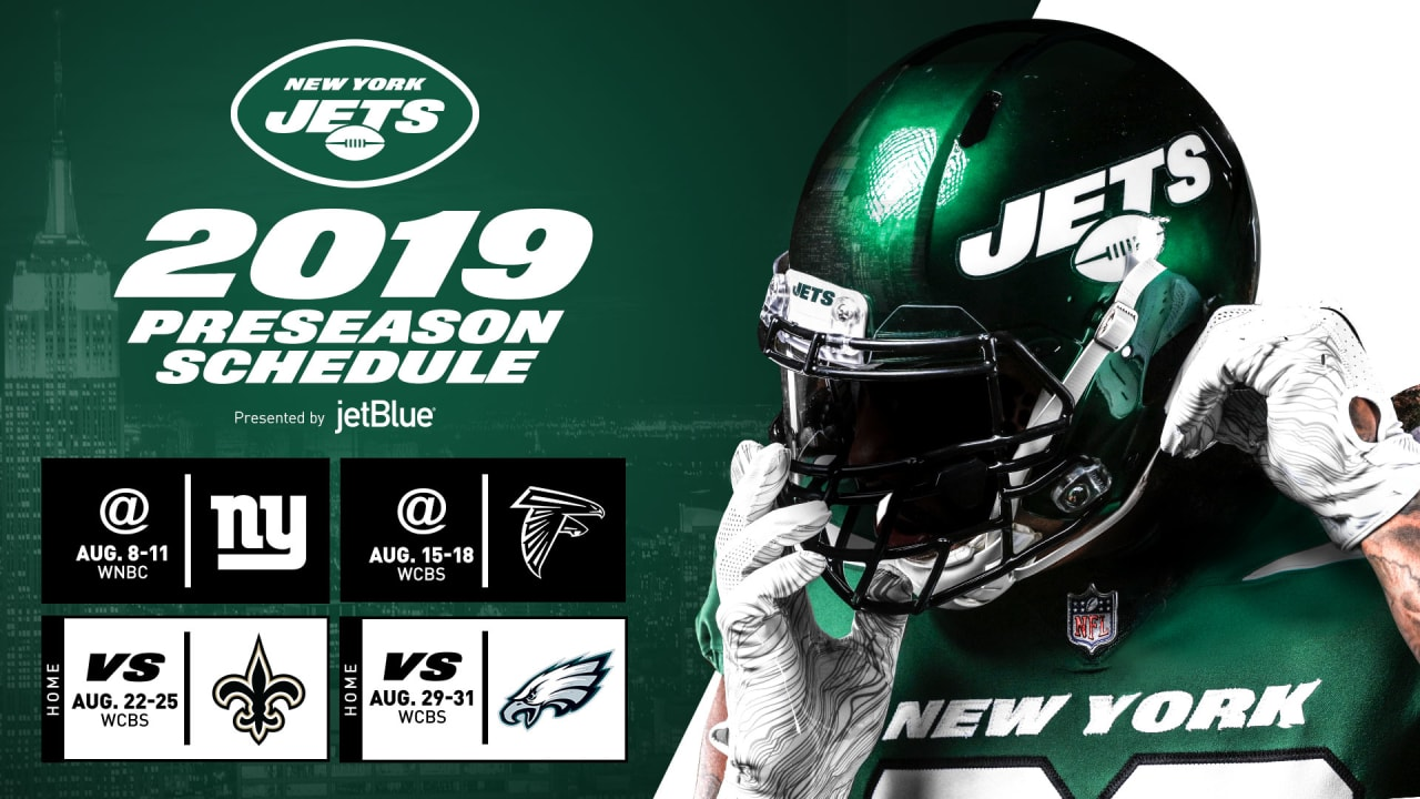 new product b1176 f9f59 Jets Open 2019 Preseason Schedule 'on the Road' vs. Giants