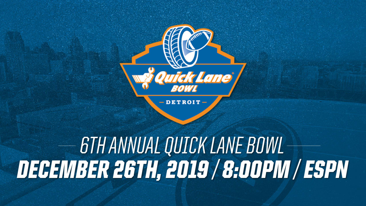 2019 Quick Lane Bowl Scheduled For December 26