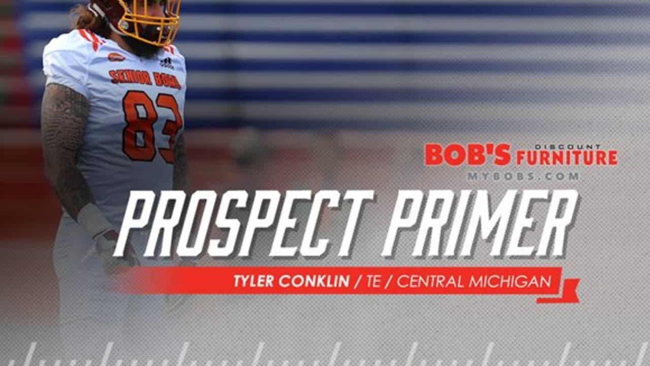 premium selection fc716 a2e8e Prospect Primer: TE Tyler Conklin, Central Michigan