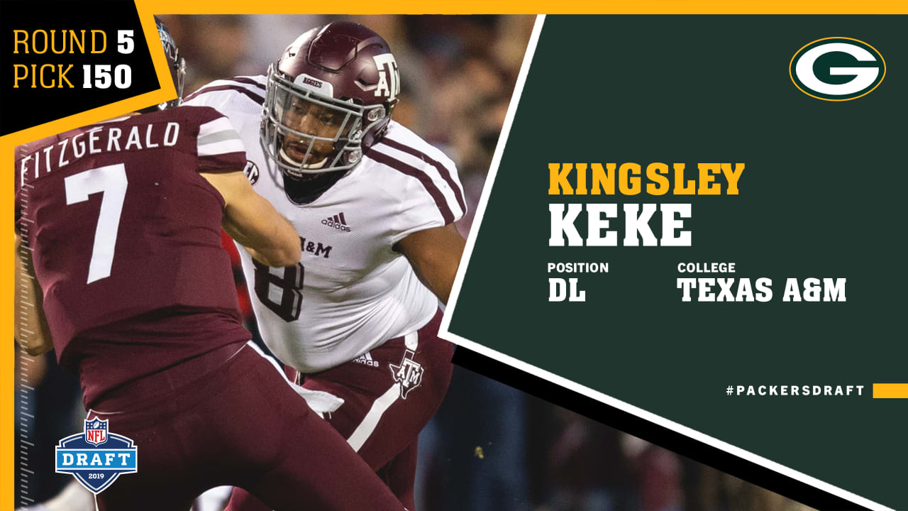 Quick Pick Packers Select Texas A M Dl Kingsley Keke In Fifth Round