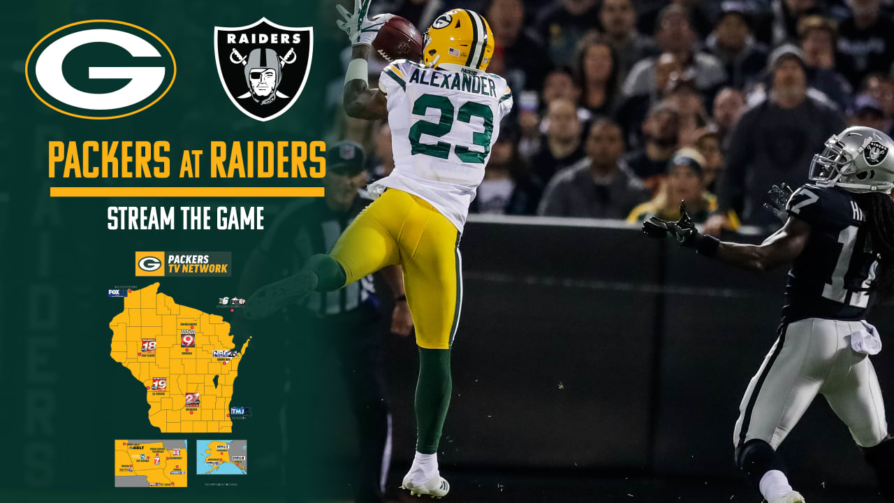 How to stream, watch Packers-Raiders game on TV