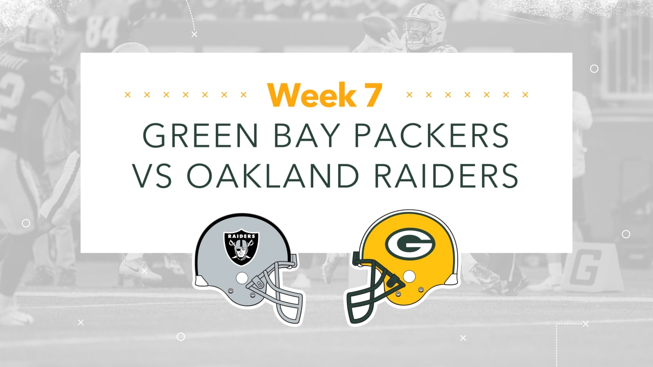 Infographic Packers Raiders Game Preview