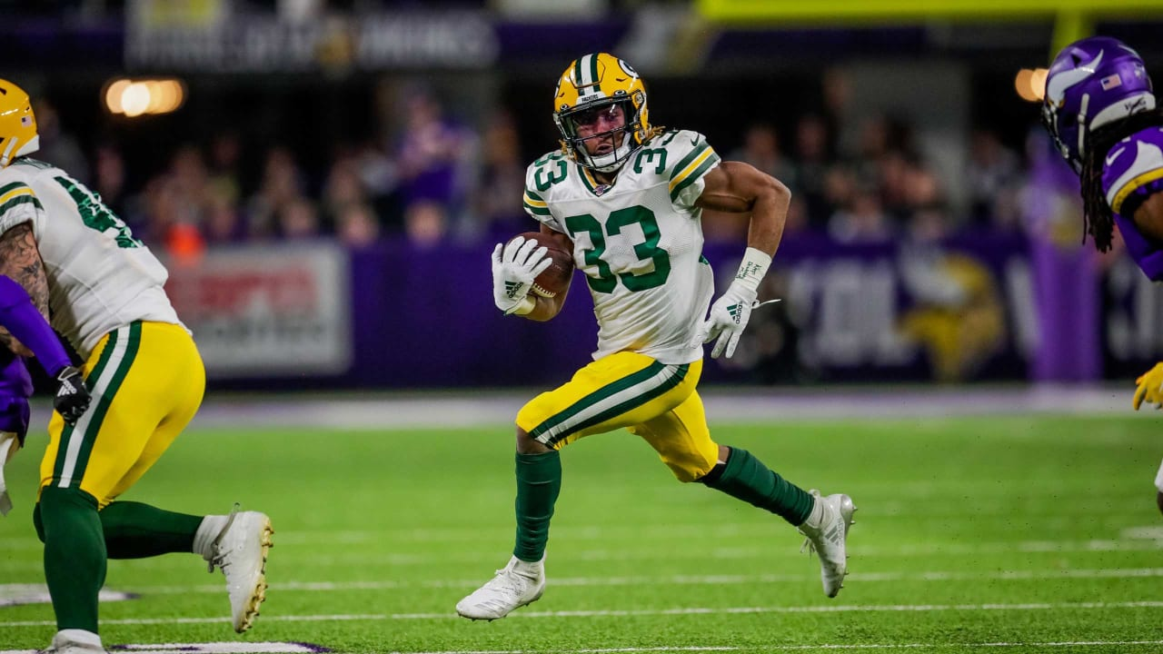Packers Rb Aaron Jones Best Runs From 154 Yard Night Week 16