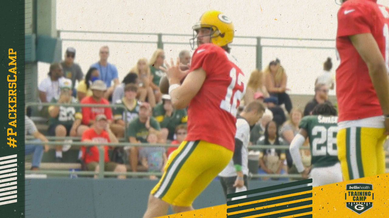 Highlight of the Day: Aaron Rodgers drills net from long range at Packers training camp