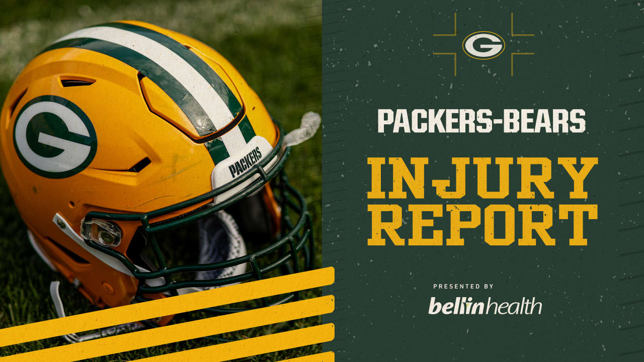 Packers-Bears Injury Report