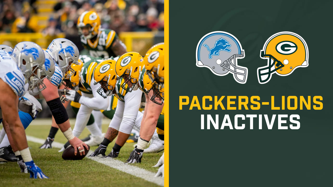 Three Rbs Three Tes Active For Packers Vs Lions