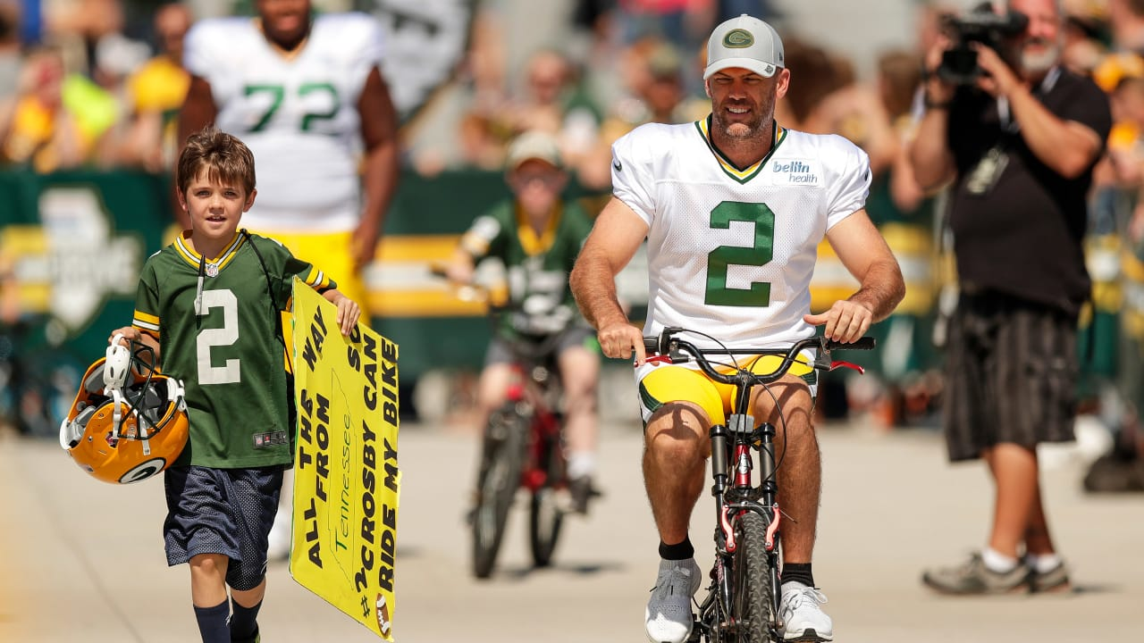 half off 936c7 f0068 This summer gave Mason Crosby two more reasons to ride