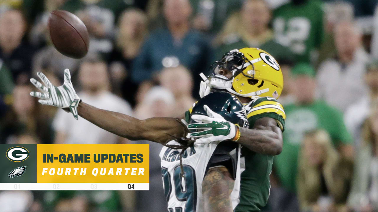 Missed chances at goal line doom Packers in 34 27 loss to Eagles