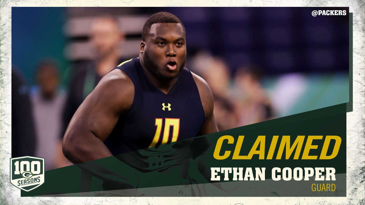 new arrival e50be 65d6a Packers claim G Ethan Cooper