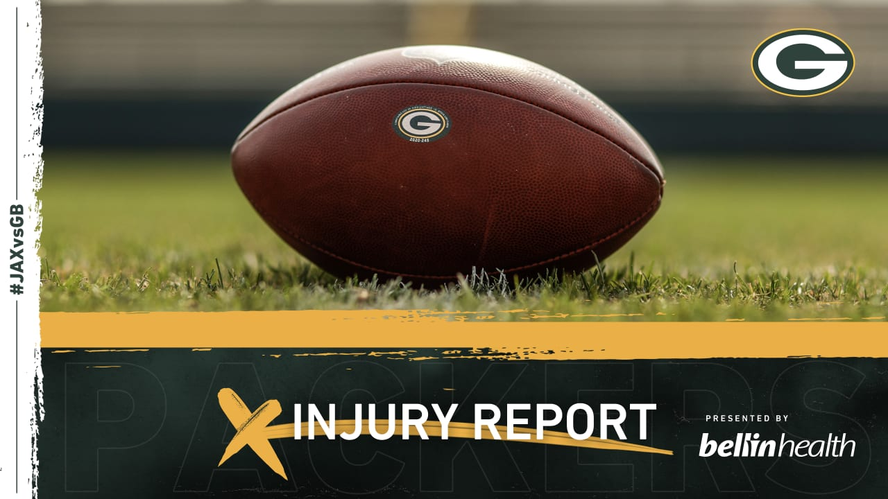 Week 10 Injury Report: Packers vs. Jaguars