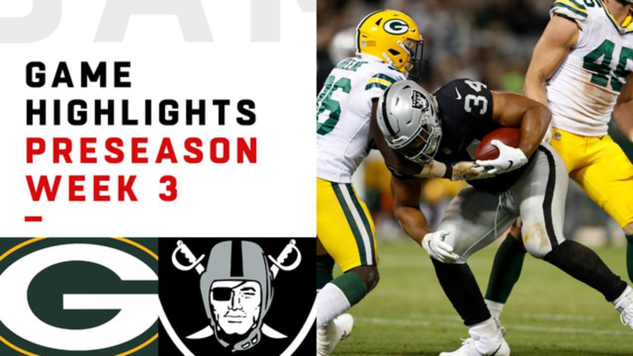 5f891548747 Packers vs. Raiders game highlights   Preseason Week 3
