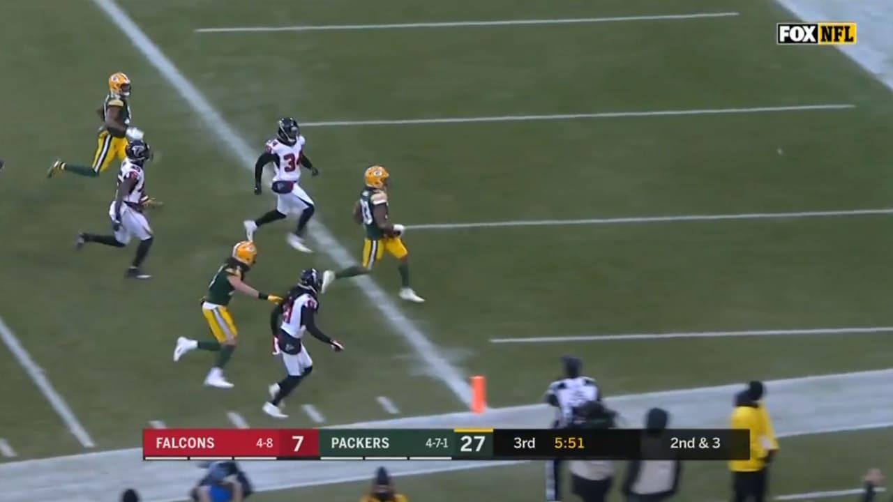 Packers Rb Aaron Jones Runs In The 29 Yard Td