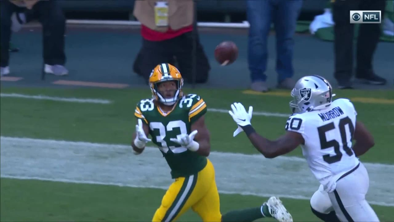 Packers Rb Aaron Jones Makes Spectacular Adjustment On 21 Yard Td Pass