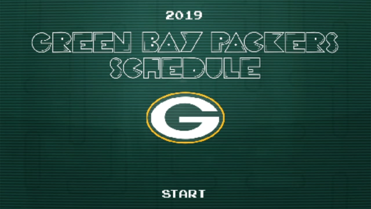 photo relating to Nfl Week 13 Printable Schedule called Packers announce 2019 timetable