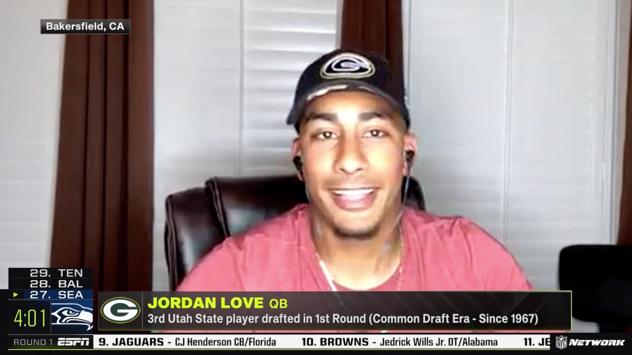 Packers QB Jordan Love: 'I can learn a lot from' Aaron Rodgers ...