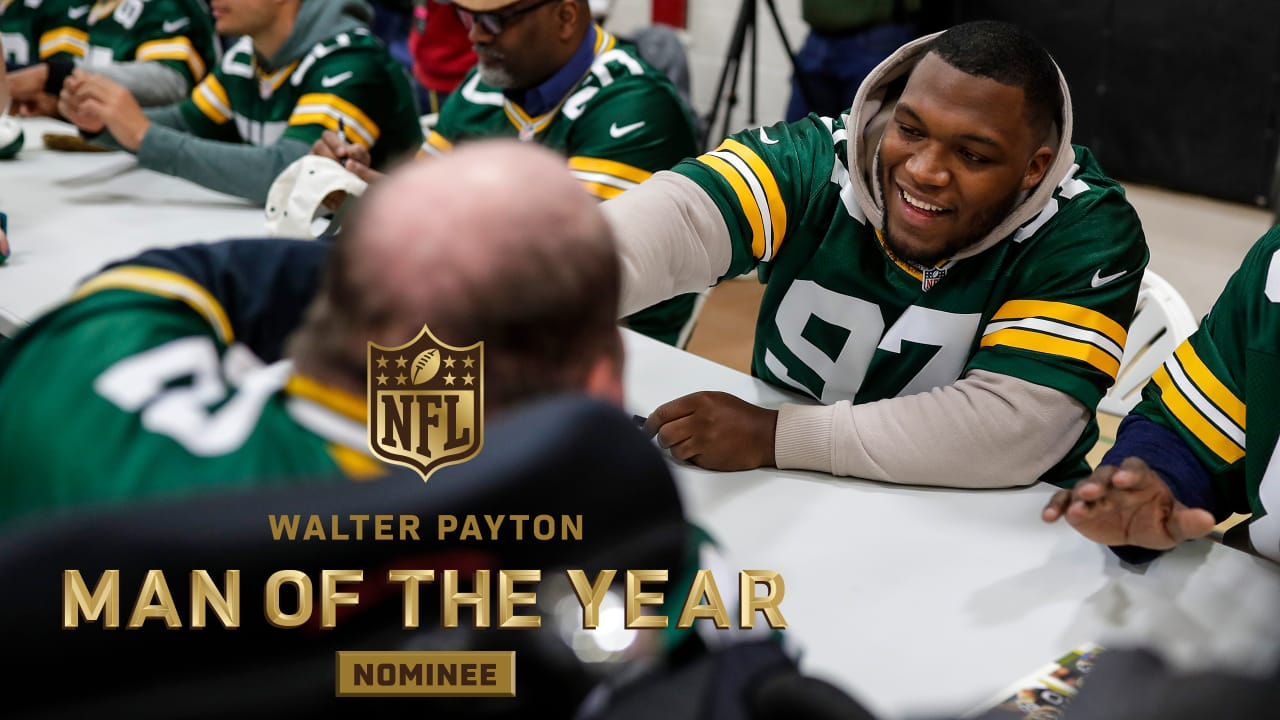 the best attitude c1388 93da3 Kenny Clark is Packers' nominee for Walter Payton NFL Man of ...
