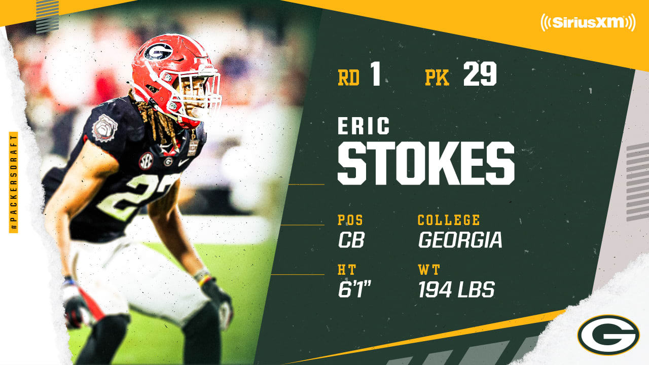2021 NFL Draft: Packers select Georgia CB Eric Stokes in first round, No. 29 overall