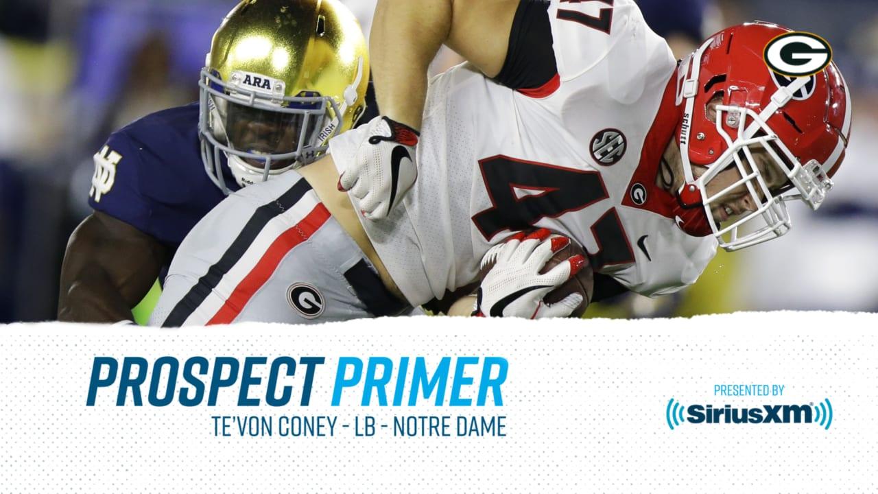 super popular 02766 409eb Prospect Primer: LB Te'Von Coney, Notre Dame
