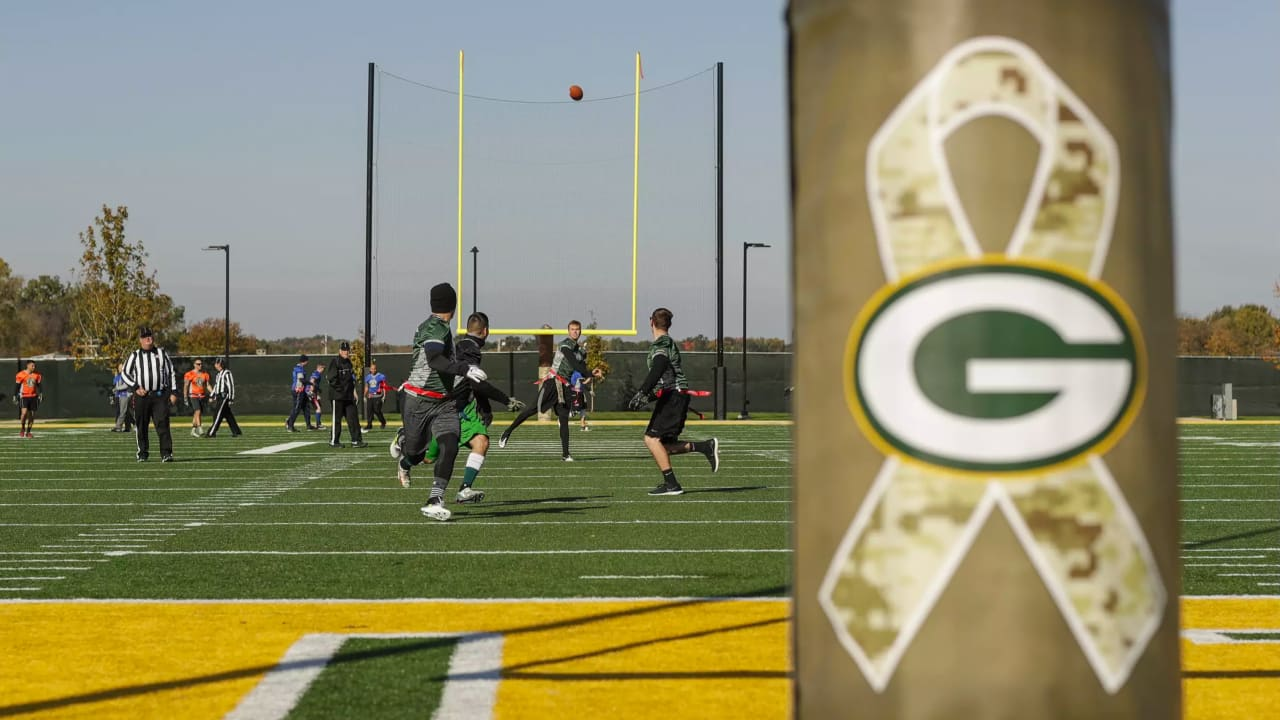 bfc828790b0 Packers host Salute to Service flag football at Titletown