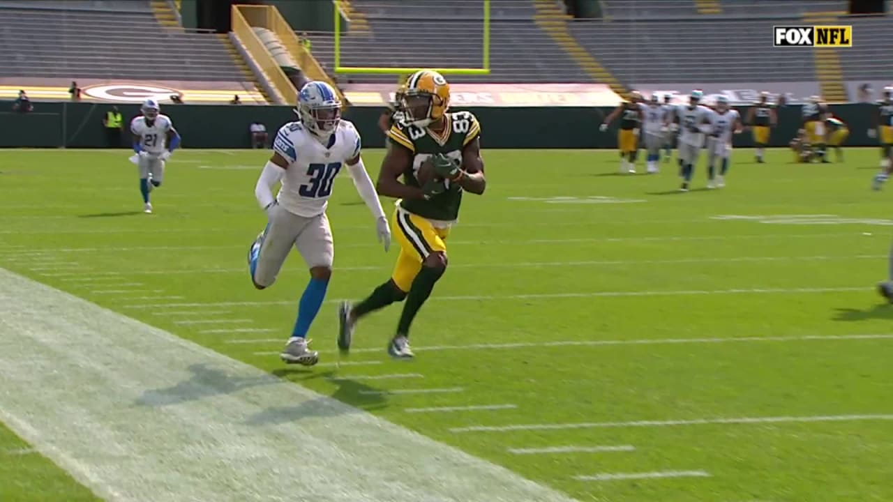 Marquez Valdes-Scantling snags catch along sideline for 41 yards