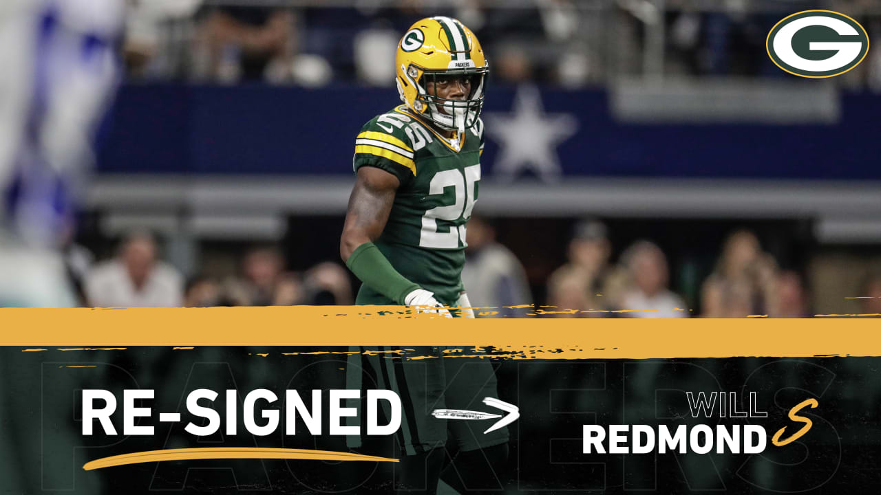 Packers re-sign S Will Redmond