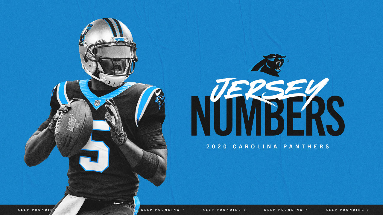 Panthers announce jersey numbers for new additions