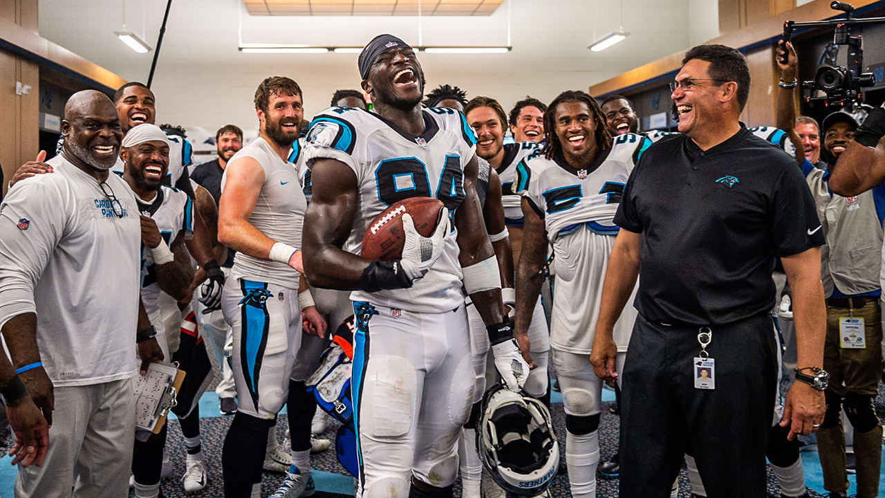 eb28fc1d3 Panthers react to Efe Obada's incredible first game