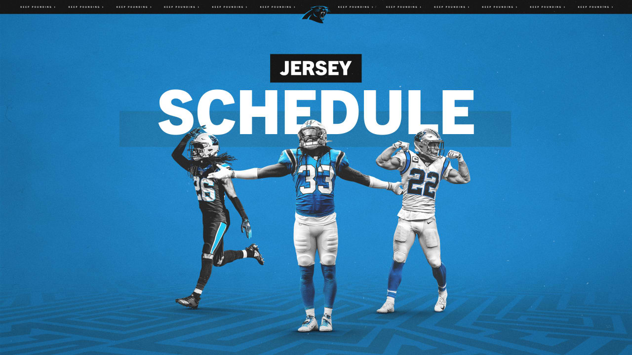 Panthers release 2020 jersey schedule