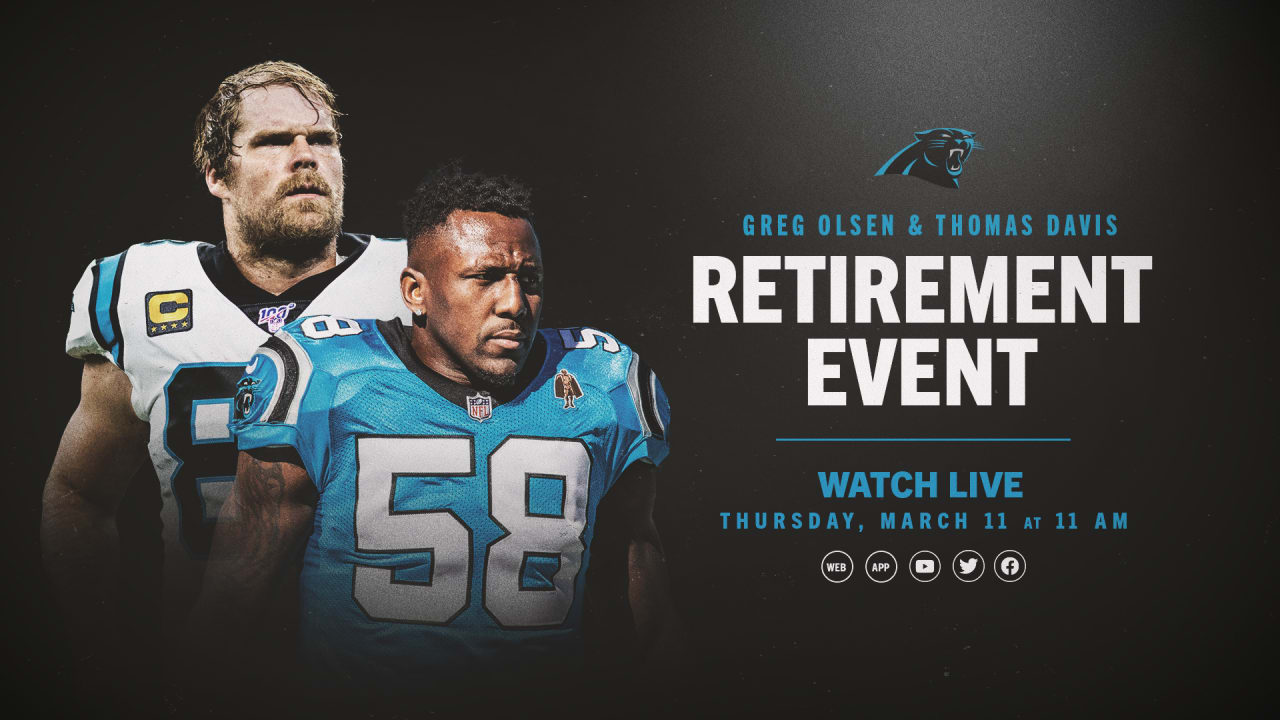 How to watch the Thomas Davis, Greg Olsen retirement event - Panthers.com