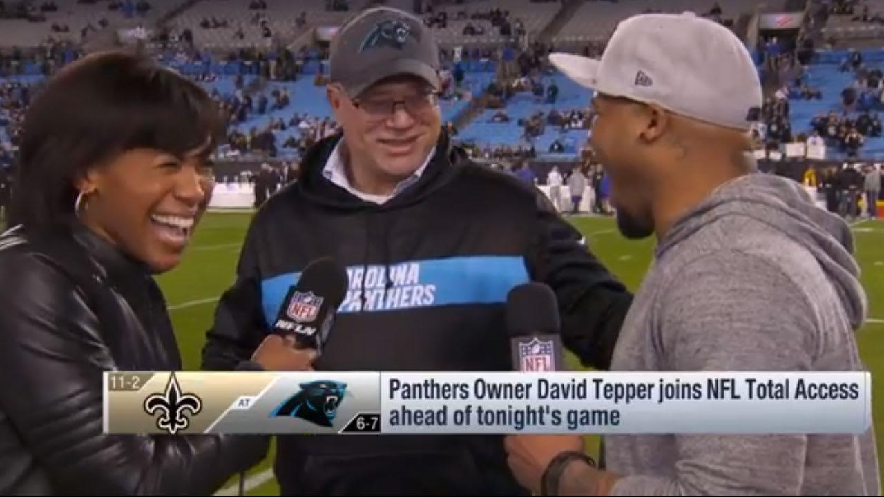 9dd02702c David Tepper crashes Steve Smith s pregame interview